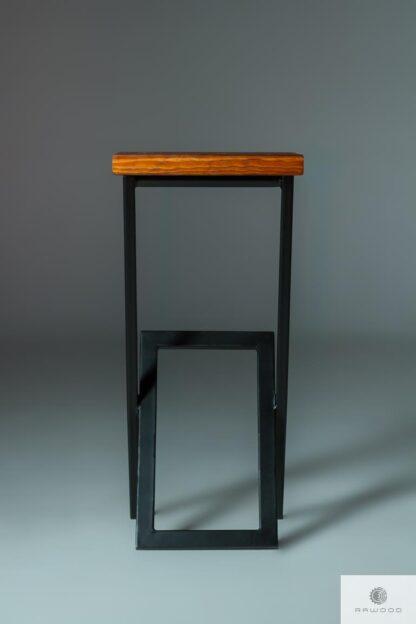 Barhocker Metall-Holz HUGON aus Massivholz finden uns auf https://www.facebook.com/RaWoodpl/