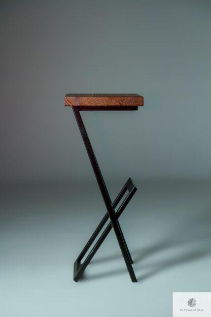 Barhocker Metall-Holz-Massivholz HUGON Finden Sie uns auf https://www.facebook.com/RaWoodpl/