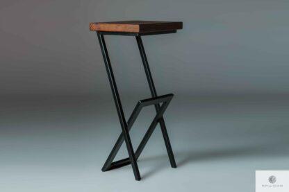 Barhocker Metall-Holz HUGON finden uns auf https://www.facebook.com/RaWoodpl/