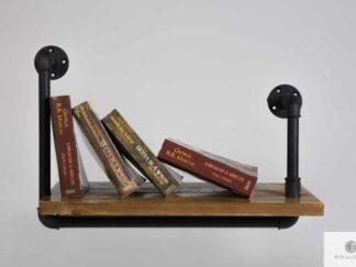 Półka na książki z drewna litego DENAR find us on https://www.facebook.com/RaWoodpl/