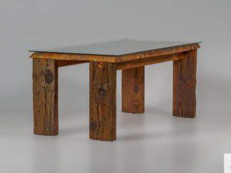 Tisch aus altem Holz mit Glas WERD finden Sie uns auf https://www.facebook.com/RaWoodpl/