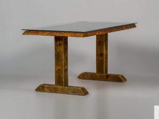 Tisch aus altem Massivholz mit Glas DREDD finden Sie uns auf https://www.facebook.com/RaWoodpl/