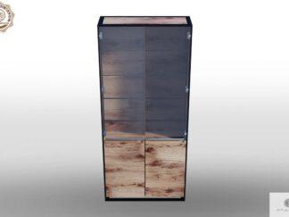 Eichen geräumige Vitrine mit Glas ins Wohnzimmer IBSEN finden Sie uns auf https://www.facebook.com/RaWoodpl/