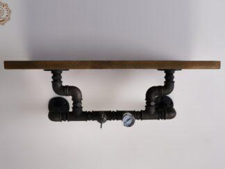 Polka scienna drewniana do salonu pokoju DENAR