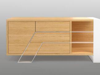 Moderner Eichenfernsehschrank mit Metallbeinen für Wohnzimmer BORA finden Sie uns auf https://www.facebook.com/RaWoodpl/