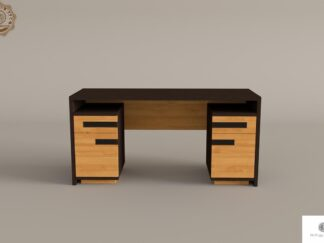 Eiche moderner Schreibtisch aus Massivholz fur Buro LAGOS find us on https://www.facebook.com/RaWoodpl/