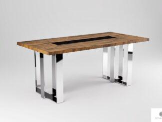 Modern Tisch aus Massiveichenholz ins Esszimmer Wohnzimmer MOCCA finden Sie uns auf https://www.facebook.com/RaWoodpl/