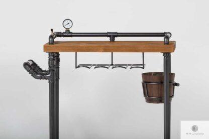 Industrielle Barwagen hölzerne Servierwagen DENAR Möbelhersteller RaWood Premium Möbel