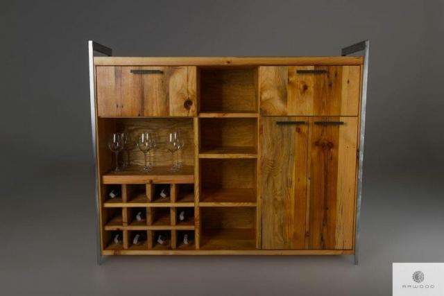 Industrielle Barschrank aus altem Massivholz ins Wohnzimmer finden uns auf https://www.facebook.com/RaWoodpl/