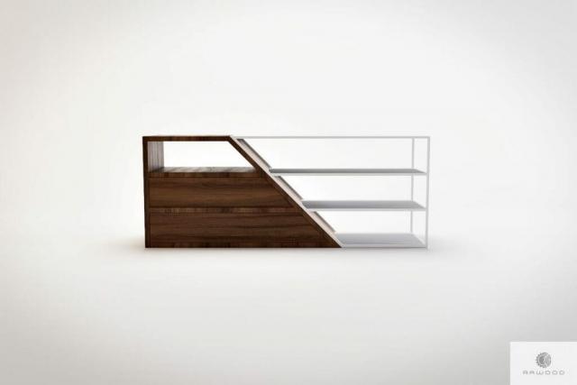 Moderne TV Schrank aus Massivholz Stahl ALANO finden Sie uns auf https://www.facebook.com/RaWoodpl/