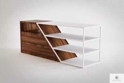 Moderne TV Schrank aus Massivholz und Stahl ALANO finden Sie uns auf https://www.facebook.com/RaWoodpl/