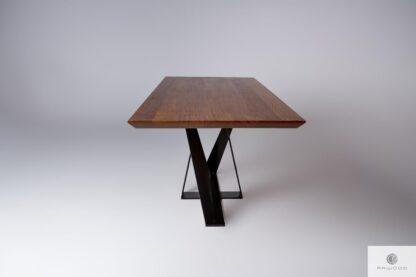 Tisch aus Eichenholz auf Metallgestell ins Esszimmer Wohnzimmer BORNEO finden Sie uns auf https://www.facebook.com/RaWoodpl/