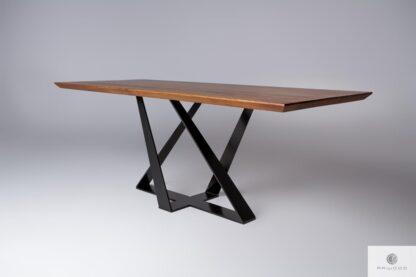 Tisch aus Eichenholz auf Metallgestell BORNEO