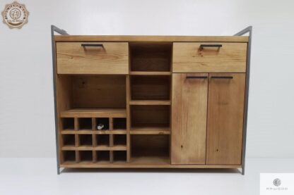 Industrielle Barschrank aus altem Massivholz ins Wohnzimmer Möbelhersteller RaWood Premium Möbel