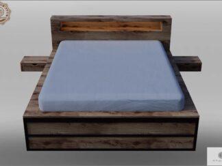 Bett aus Massiveichenholz für Schlafzimmer HUGON finden Sie uns auf https://www.facebook.com/RaWoodpl/