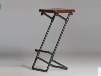Modern Holzbarhocker auf Metallbeine DENAR Möbelhersteller RaWood Premium Möbel