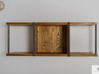 Rustikale Wandregal aus Massivholz ins Wohnzimmer HEGEL Möbelhersteller RaWood Premium Möbel
