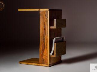 Beistelltisch unter Laptop aus Massivholz ins Wohnzimmer Möbelhersteller RaWood Premium Möbel