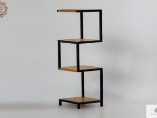 Bücherregal aus Massivholz und Stahl ins Wohnzimmer HUGON finden Sie uns auf https://www.facebook.com/RaWoodpl/