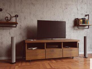 Rustikales Fernsehschrankaus Massivholz DENAR Mobelhersteller RaWood Premium Mobel