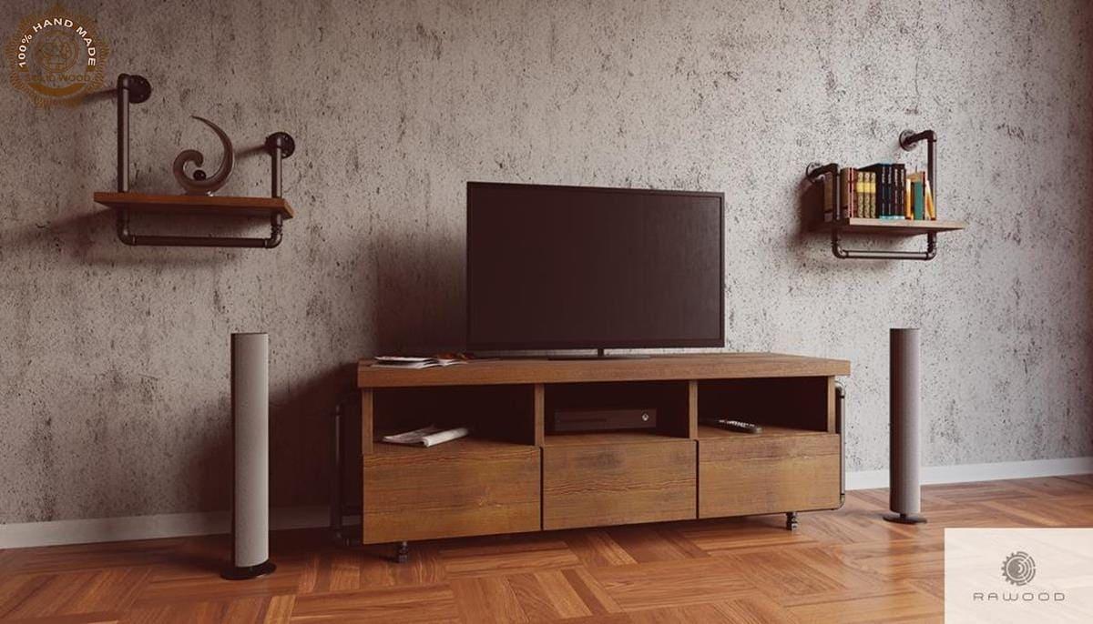Rustikales TV Schrank aus Massivholz DENAR finden Sie uns auf https://www.facebook.com/RaWoodpl/