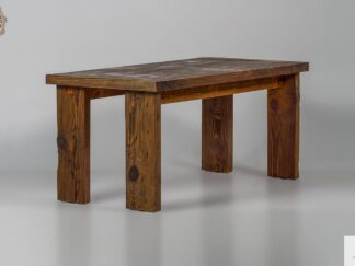 Holztisch aus altem Massivholz ins Esszimmer WERD finden Sie uns auf https://www.facebook.com/RaWoodpl/