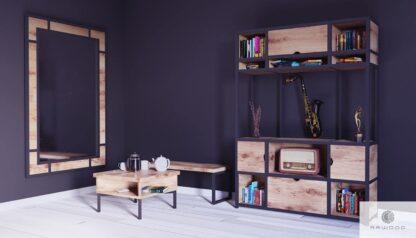 Eichen Kaffeetisch aus Massivholz ins Zimmer Wohnzimmer HUGON finden Sie uns auf https://www.facebook.com/RaWoodpl/