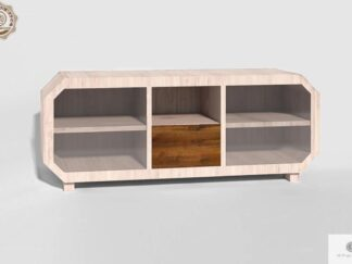 Szafka RTV z drewna sosnowego do salonu OMNIS Producent Mebli RaWood Premium Furniture