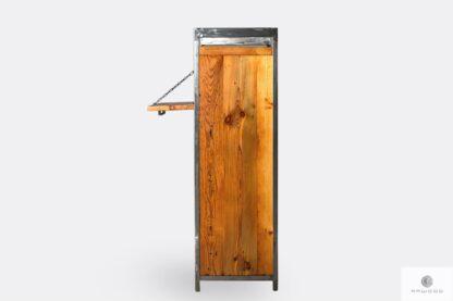 Barschrank aus Massivholz Stahl ins Wohnzimmer
