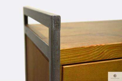 Industrielle Barschrank aus natürliche Stahl und Massivholz