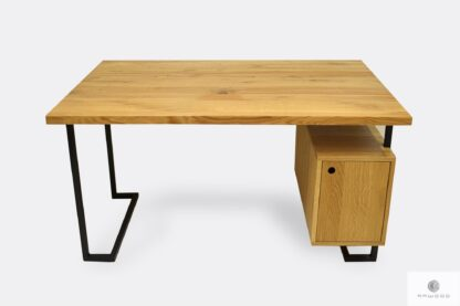Schreibtisch mit Holztischplatte Container ins Büro OLIMPIA