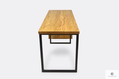 Schreibtisch mit Holztischplatte modern solide HUGON