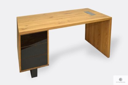 Eiche Bürotisch mit Schubladen ins Büro MOCCA