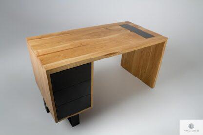 Eiche Schreibtisch mit Schubladen ins Arbeitzimmer Büro MOCCA