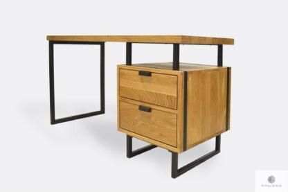 Eiche industrielle Schreibtisch mit Schubladen ins Arbeitzimmer HUGON