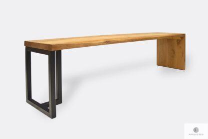 Designer Bank aus Holz und Metall ins Flur HUGON I