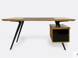 Design Eiche Schreibtisch auf Metallbeinen ins Büro VITA