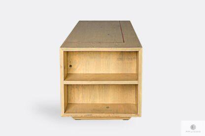 Holz Couchtisch mit Regal aus Massivholz ins Wohnzimmer COPPER