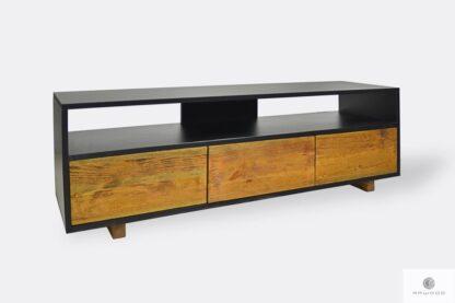 Holz TV Schrank mit Schubladen in industrielle Still ins Wohnzimmer NESCA I