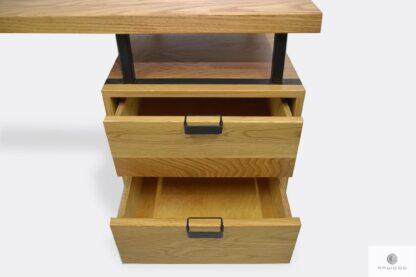 Holz Schreibtisch mit Schubladen ins Arbeitzimmer HUGON