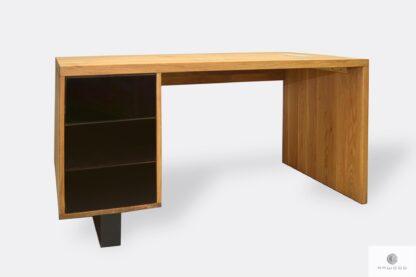 Holzschreibtisch mit Schubladen ins Arbeitzimmer MOCCA