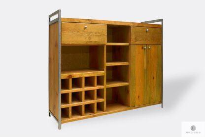 Holz Hause Barschrank mit Regale Schubladen ins Wohnzimmer