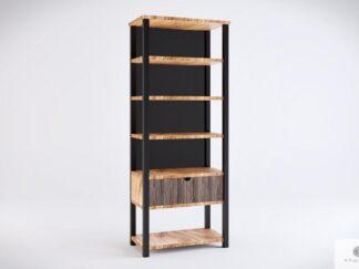 Drewniany regał na książki z drewna litego do gabinetu salonu COLIN