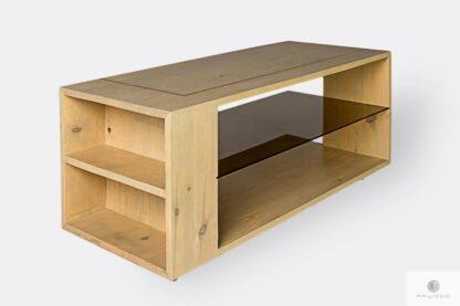 Holz Kaffeetisch mit Regale ins Wohnzimmer COPPER