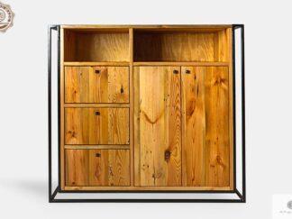 Industrielle Loft Kommode aus Massivholz und Metall ins Wohnzimmer