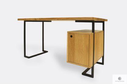 Industrielle Schreibtisch aus Massivholz ins Büro OLIMPIA