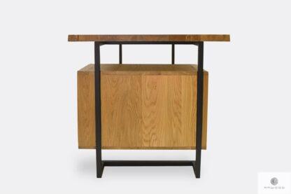 Industrielle Schreibtisch aus Holz und Metall ins Arbeitzimmer OLIMPIA