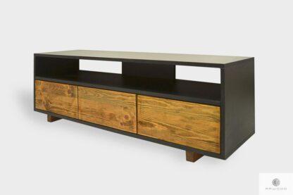 Industrielle TV Schranke mit Schubladen aus Massivholz ins Wohnzimmer NESCA I