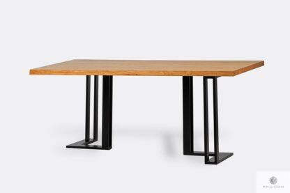 Industrielle Tisch aus Holz und Metall SNAKE