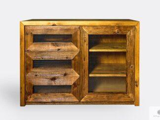 Kommode aus altem Massivholz ins Wohnzimmer AMBER